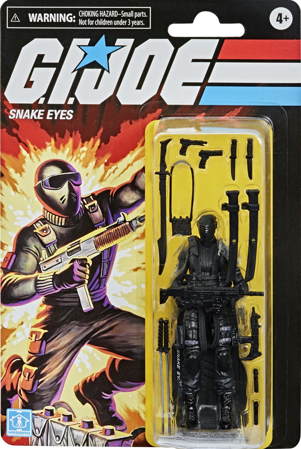 GI Joe Retro SNAKE EYES Walmart Exclusive  3.75 New Hasbro In Hand