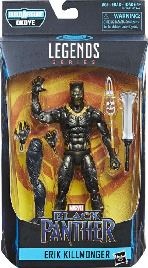 """Marvel Legends Black Panther 6/"""" ERIK KILLMONGER figure LOOSE NO Okoye BAF MCU"""