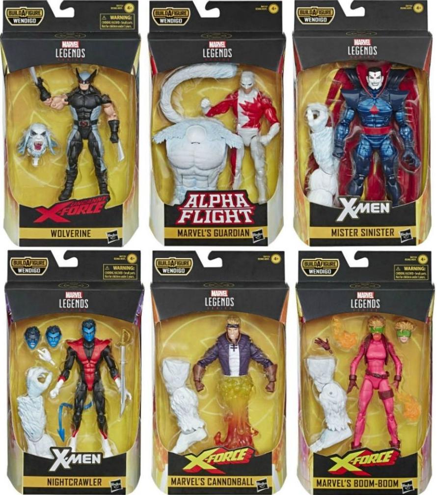 Wendigo bras gauche /& Lobo têtes partie inférieure du tronc Marvel Legends DC Multi-Univers BAF Lot