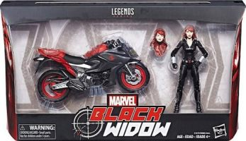 Black Widow & Motorcycle