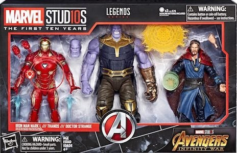 Infinity War 3 Pack: Iron Man Mark L, Thanos & Dr. Strange