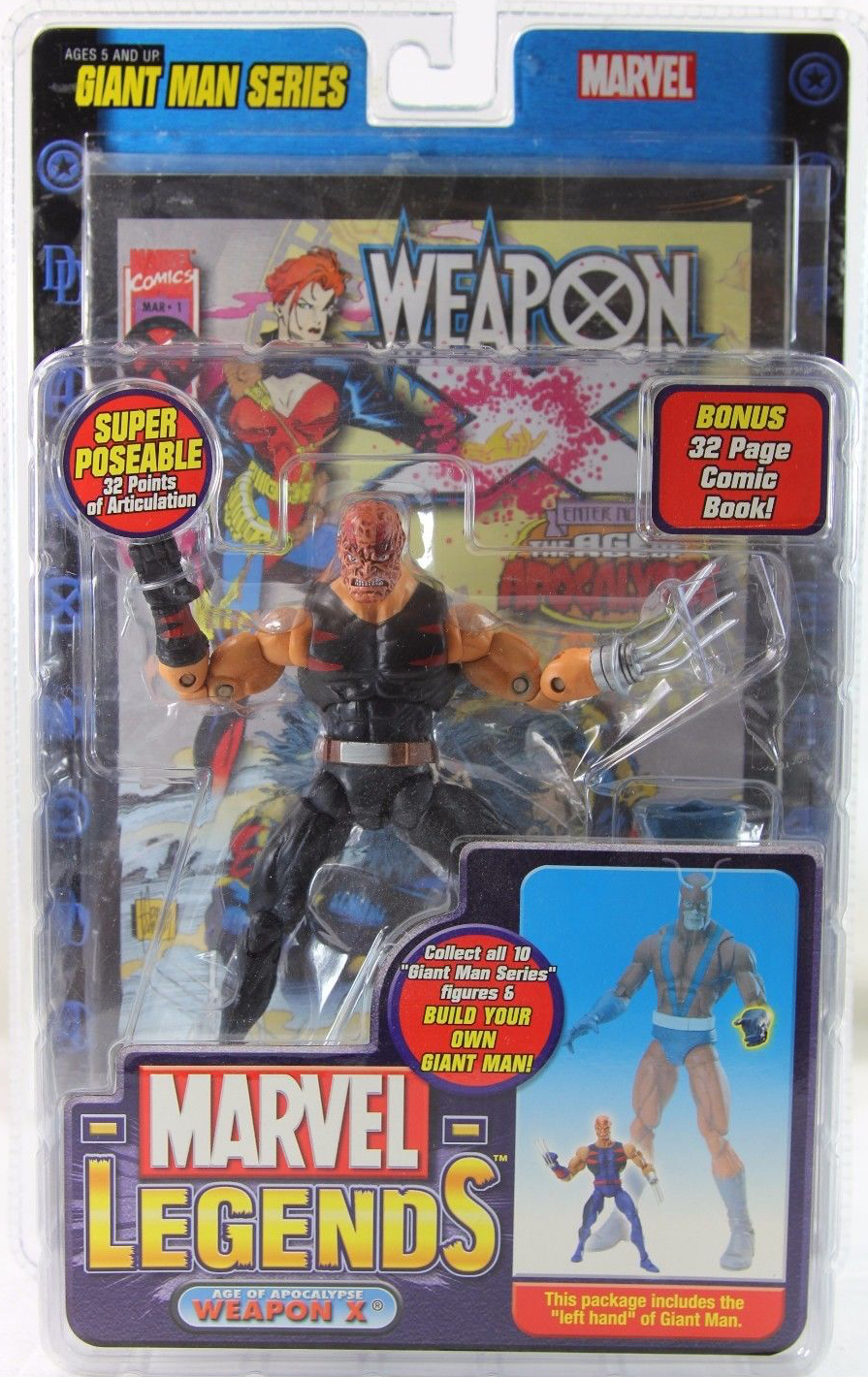Burned Marvel Legends Giant Man Build A Figure Weapon X Action Figure