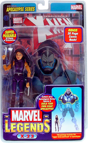 Marvel Legends APOCALYPSE Series X-23 Purple Variant Chase Toy Biz