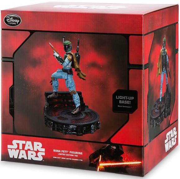 Boba Fett Limited Edition //750 STAR WARS Statue Figurine Disney Store LIGHT UP