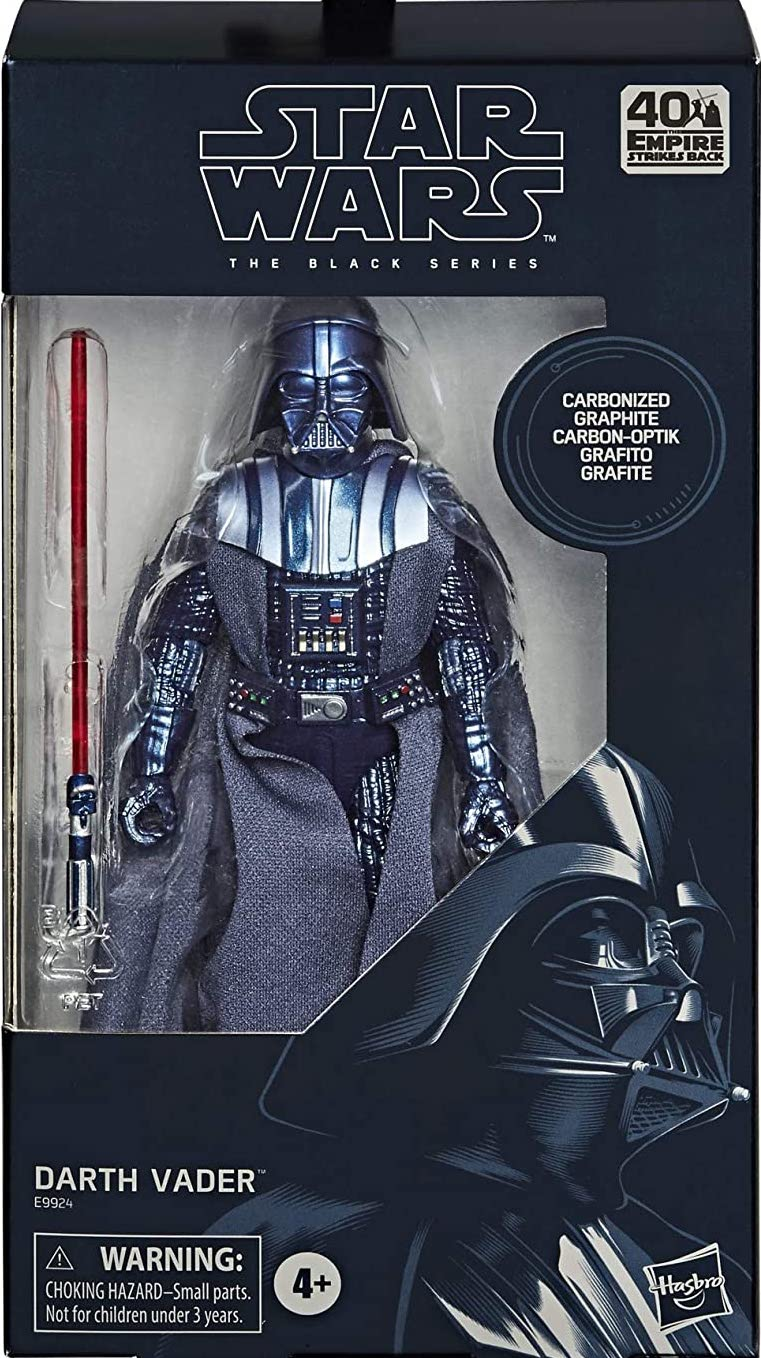 "STAR WARS BLACK SERIES THE EMPIRE STRIKES BACK CARBONIZED DARTH VADER 6/"" FIGURE"