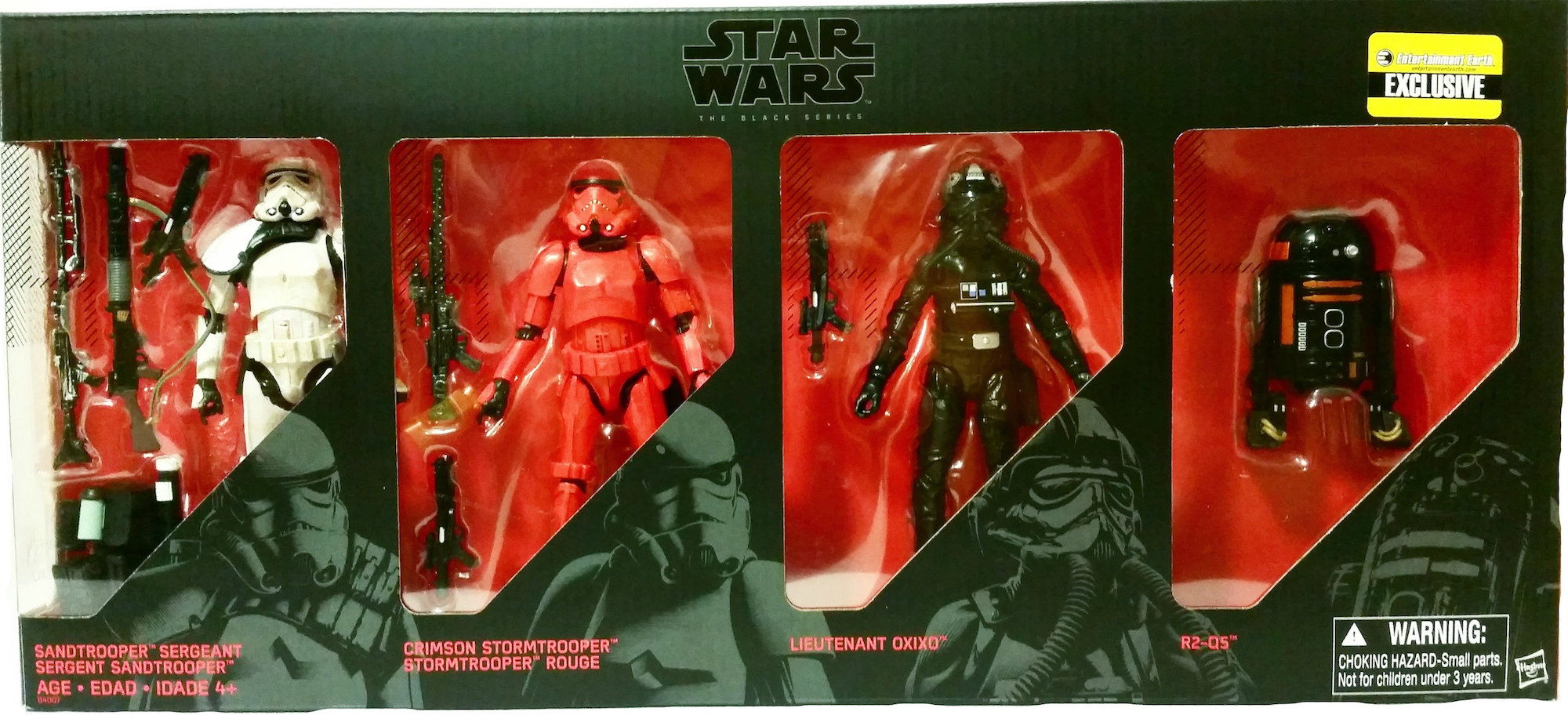 Star Wars Black Series Sandtrooper Stormtrooper Lieutenant OXIXO R2Q5 4-Pack