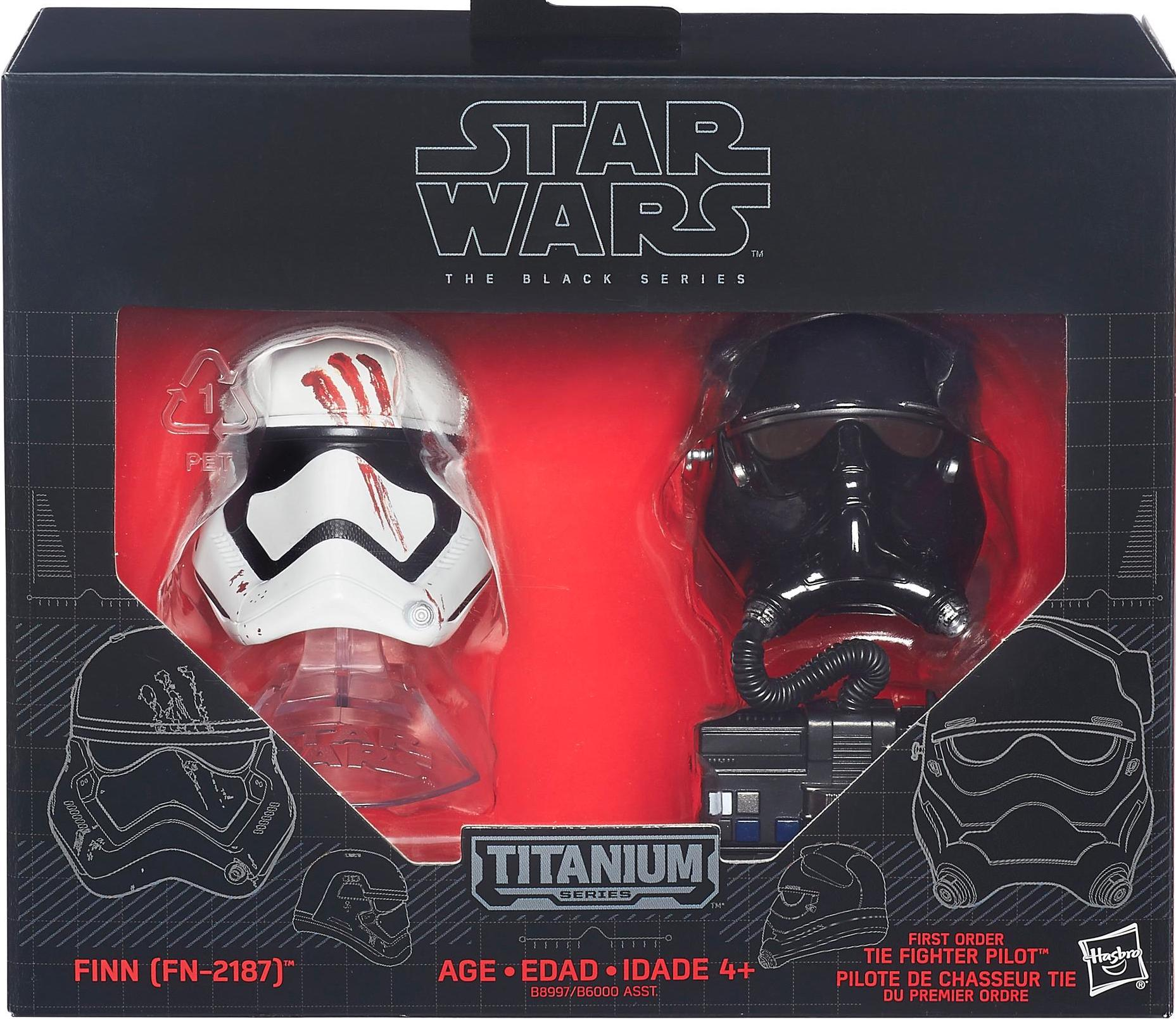 Star Wars #5 Black Series Titanium Helmet Finn FN-2187 First Order Tie Pilot NEW