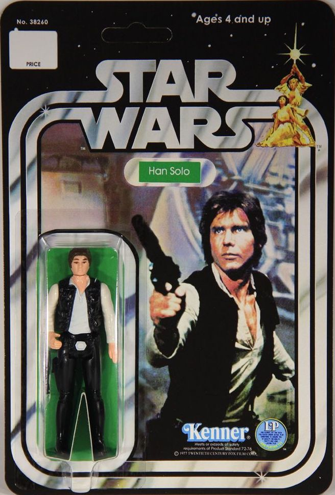 1 x Stand Synergy-Vintage Star Wars Han Solo Stand Espositore solo