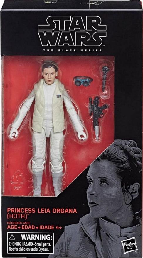 "Star Wars E1213 The Black Series 6/"" Princess Leia Organa Hoth Figure"