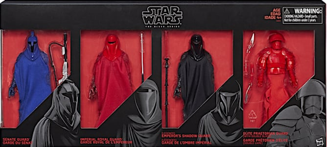 """Guardians of evil 4 Pack 6/"""" The Black Series Star Wars Game Stop Exclusif Guard"""