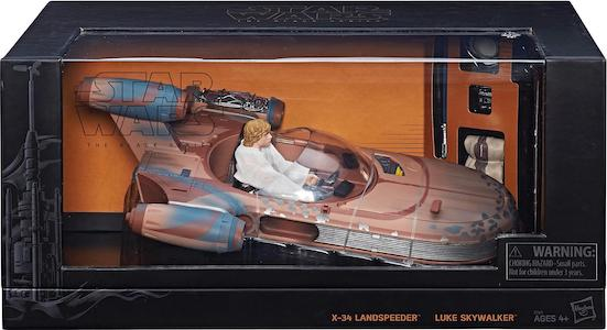 X-34 Landspeeder and Luke Skywalker