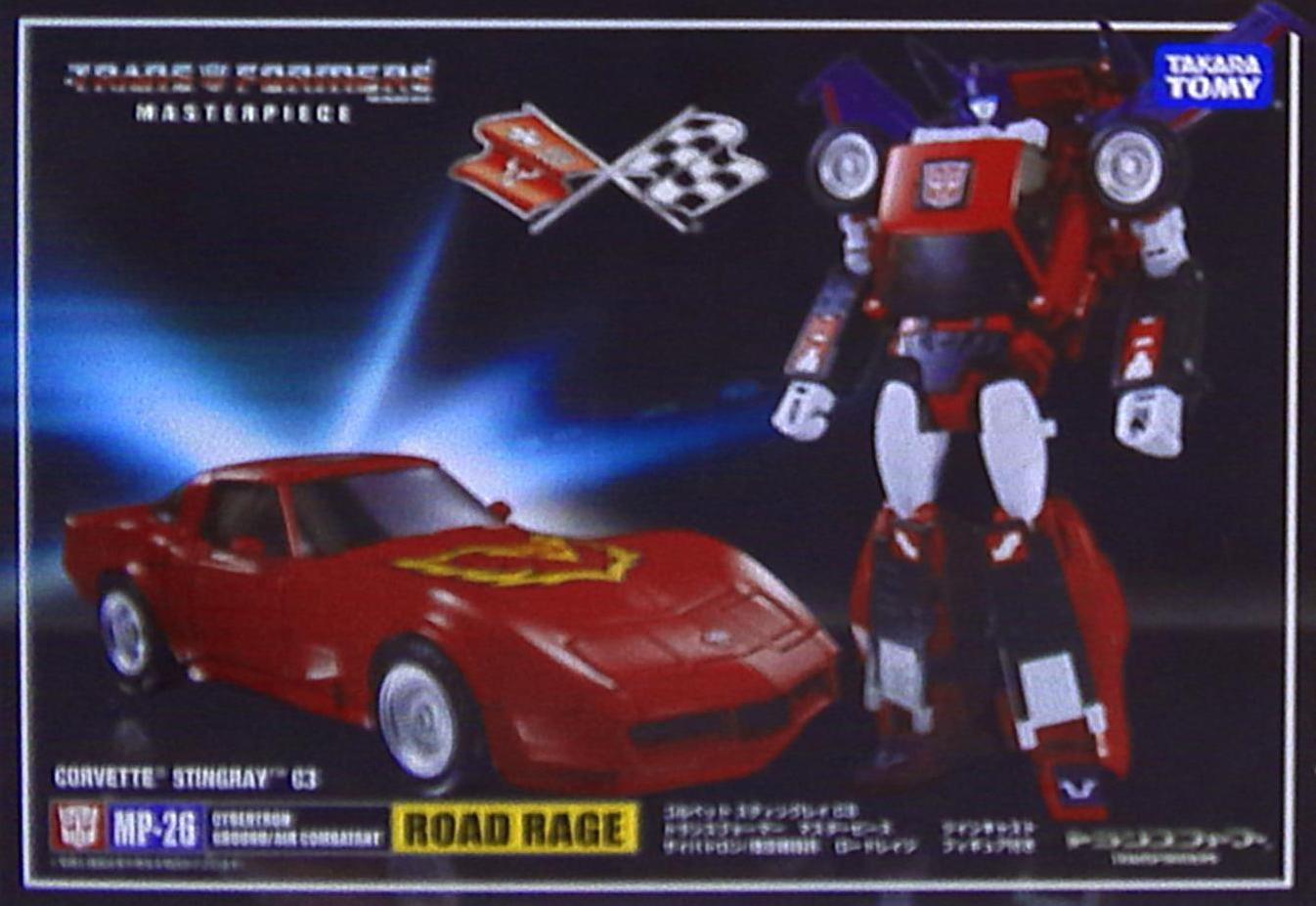 Transformers Takara Tomy Masterpiece MP-26 Road Rage Corvette Sting  K.O